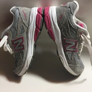 New balance 990 gray pink running shoes 11.5 wide